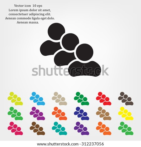 icon groups of people - stock vector