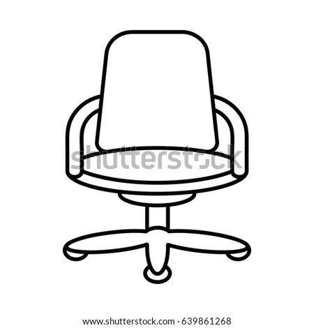 Icon Illustration For Business Finance That Illustrates The Office Chair In Outline Style Design
