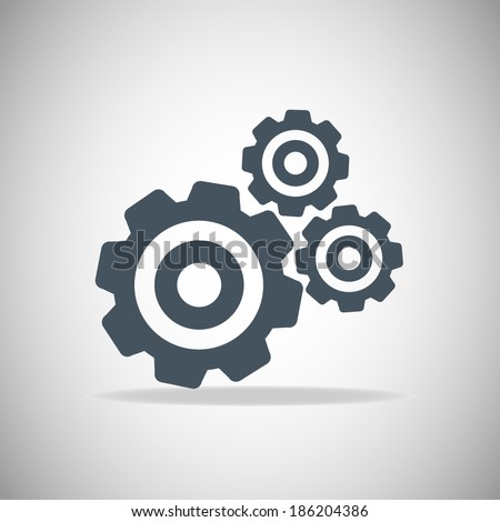 Icon illustration of gears - stock vector