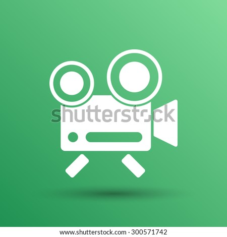 icon isolated chair recording square camcorder simbol. - stock vector