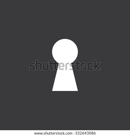 Icon Isolated on a Grey Background - Keyhole - stock vector