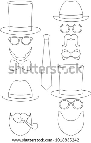 Icon Line Art Poster Man Father Stock Vector 1018835242 - Shutterstock