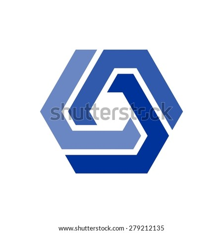 Icon Logo Template Hexagon Element Hexagram Stock Vector 2018