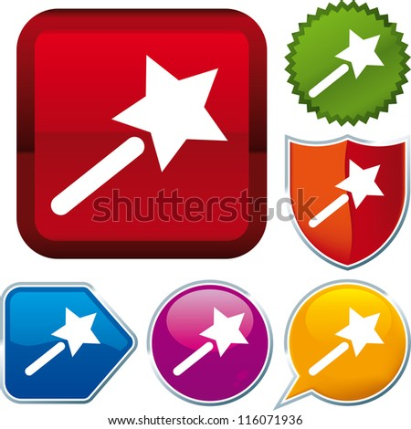 Wand Icon Icon Magic Wand Stock Vector