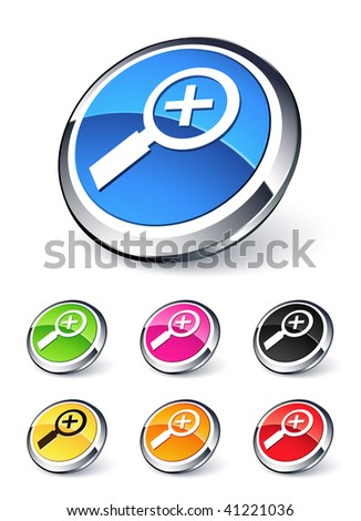 icon Magnifying Glass plus - stock vector