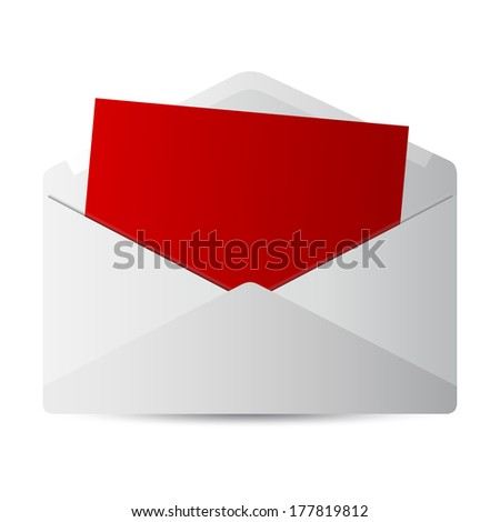 icon message on white background