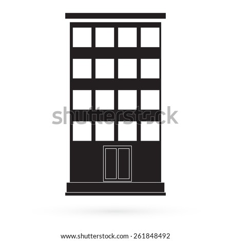 Icon multifamily home. Vector. - stock vector