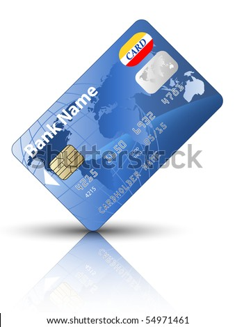 Icon of a credit card, vector - stock vector