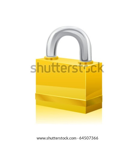 Icon of a lock. Vector