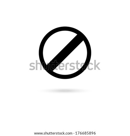 icon of a prohibition  - stock vector