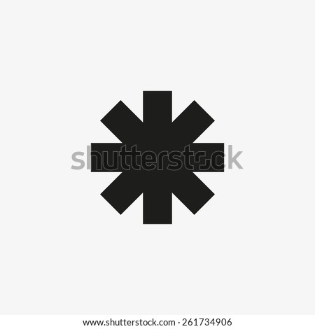icon of a sign of an ambulance - stock vector