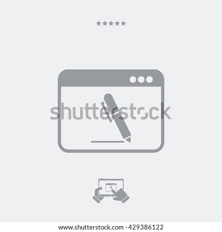 Icon of application for handwriting - stock vector