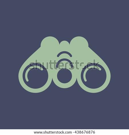 Icon of Binoculars. Eps-10. - stock vector