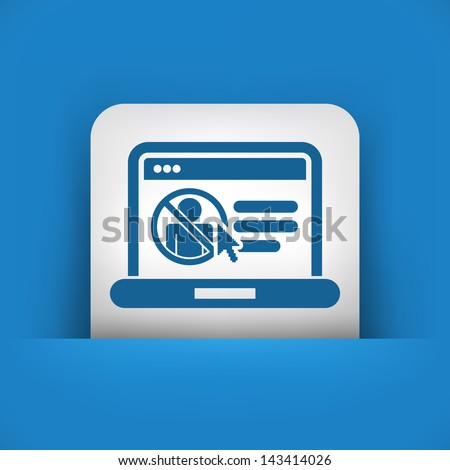 Icon of booking train ticket on web agency - stock vector