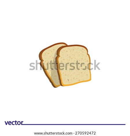 Icon of bread. Isolated on white background. Modern vector illustration for web and mobile. - stock vector