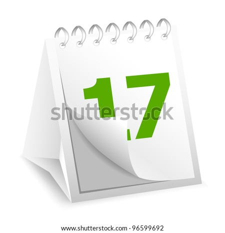 Icon of calendar - stock vector