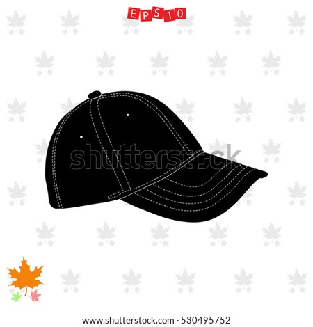 Icon of cap on gray background. All elements cap for web design and decoration of greeting cards.