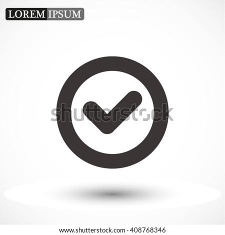 icon of check box icon Vector icon 10 EPS - stock vector