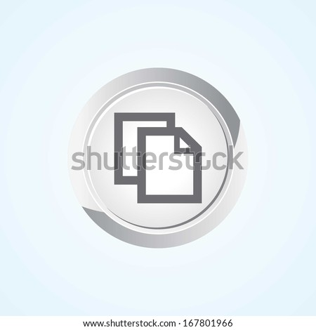 Icon of Copy on Button. Eps-10.  - stock vector