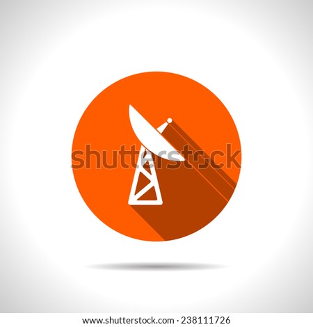 icon of dish antenna - stock vector