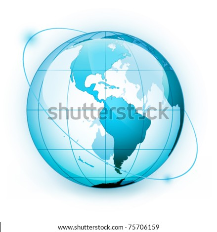 Icon of Earth on a white background - stock vector