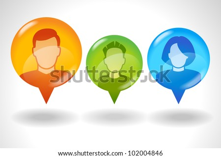 icon of family communication. File is saved in AI10 EPS version. This illustration contains a transparency - stock vector