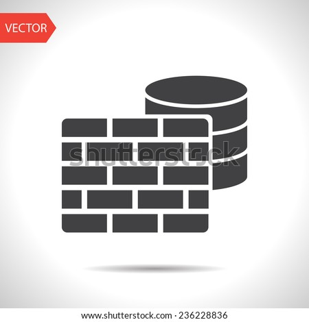 icon of firewall - stock vector
