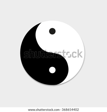 Icon of good and evil yin yang - stock vector