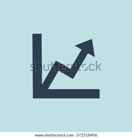 Icon of Graph. EPS-10. - stock vector