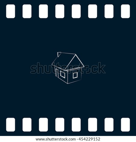 icon of house model vector illustration - stock vector