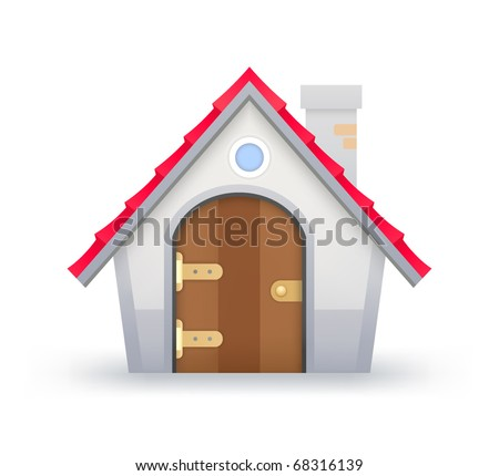 Icon of House on a white background - stock vector