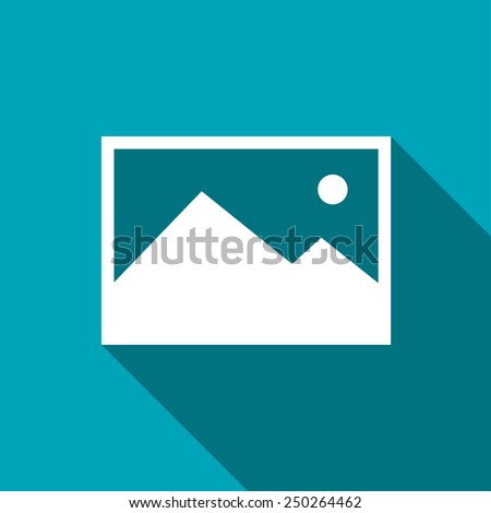 icon of image photo - stock vector