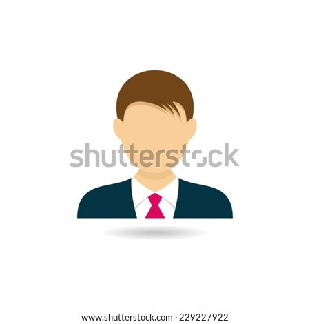 Icon of man for web design vector illustration - stock vector