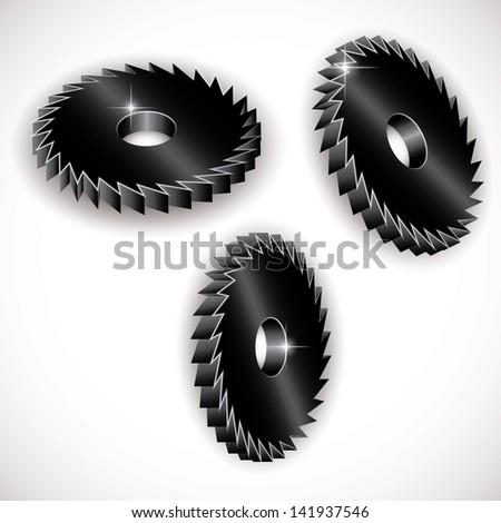 icon of metal gears. vector eps10 - stock vector