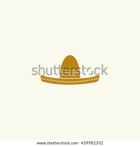 Icon of Mexican sombrero hat.