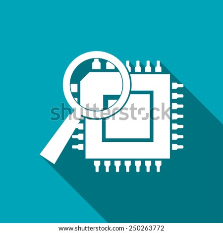 icon of microchip discover - stock vector