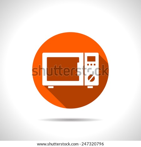 icon of microwave oven - stock vector