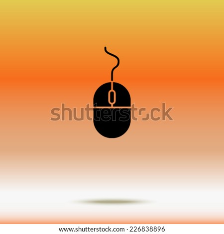 icon of mouse - stock vector