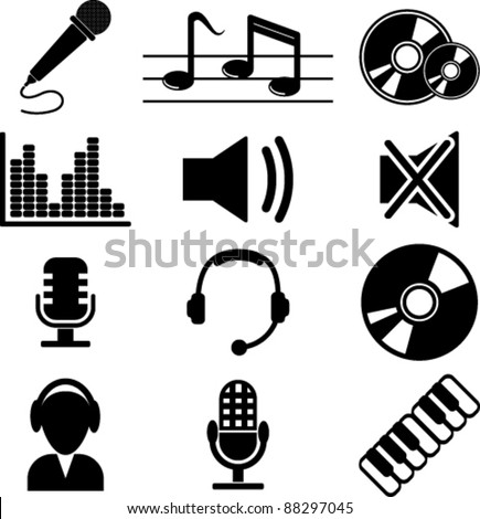 Icon of multimedia - stock vector