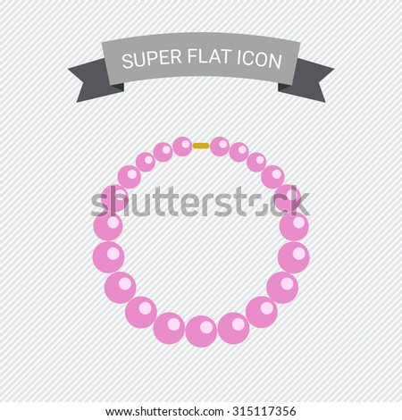 Icon of necklace made of pink beads