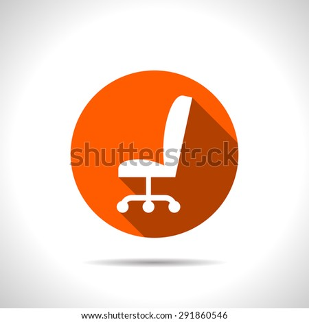 icon of office chair - stock vector