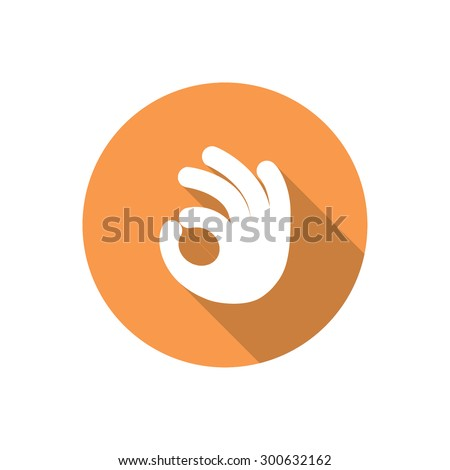 icon of ok. vector  - stock vector