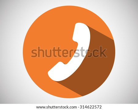 Icon of phone - stock vector