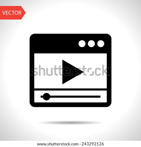 icon of player window - stock vector