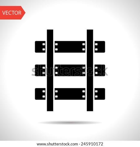 icon of railroad - stock vector
