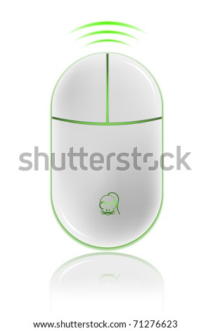 Icon of Realistic computer mouse, vector illustration. EPS8