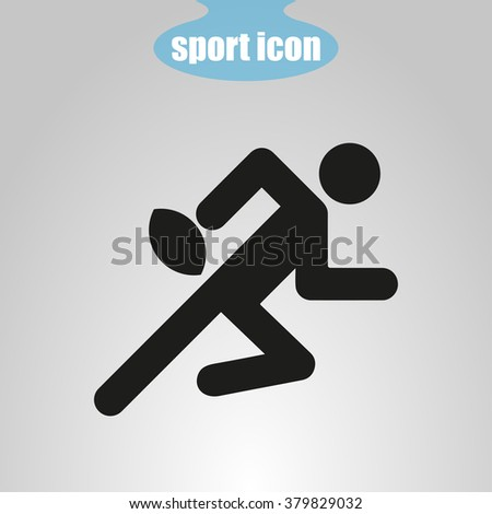 icon  of rugby player - stock vector