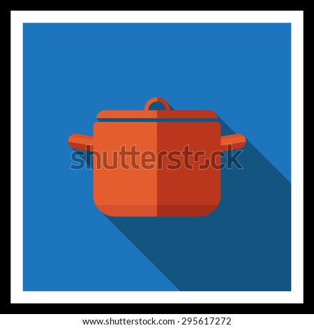 Icon of saucepan with cover