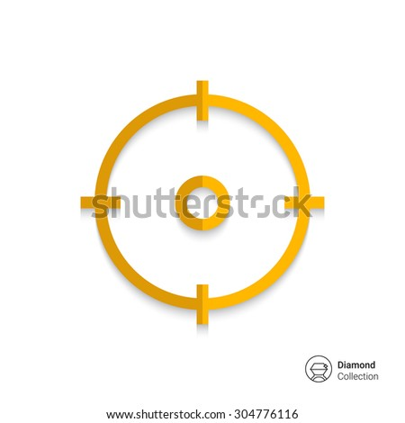 Icon of sight in circle - stock vector