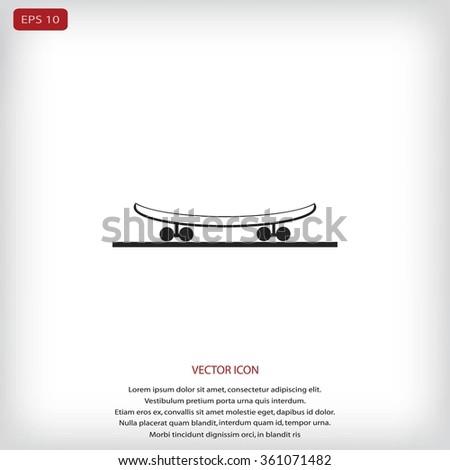 icon of skateboard - stock vector
